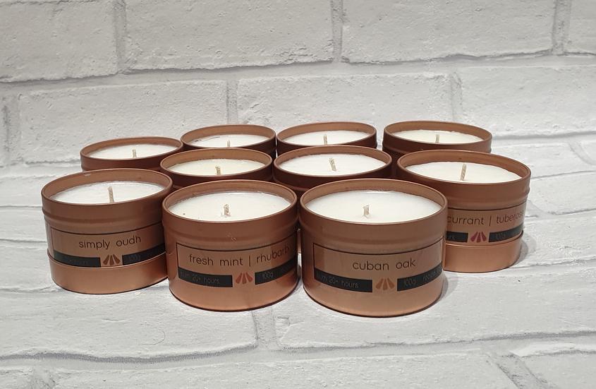 Four Tin Candle Gift Set