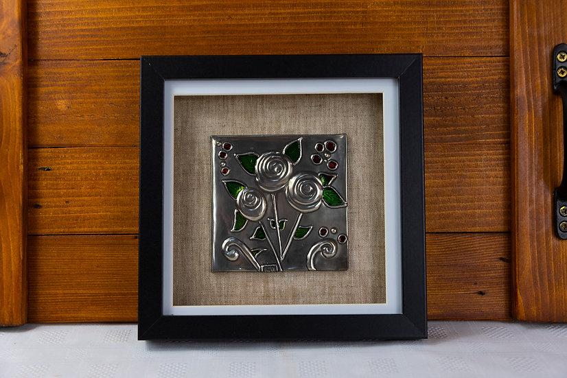 Framed Pewter Picture