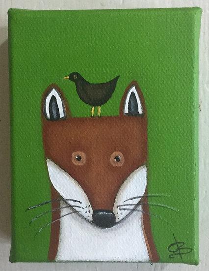 Fox and Blackbird