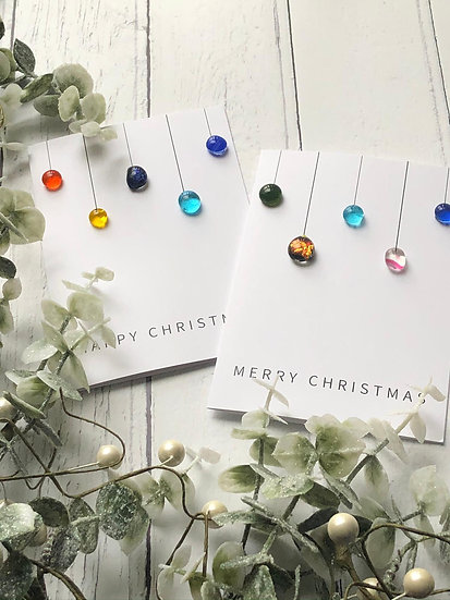 Fused Glass Christmas Card