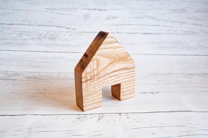 Wooden house with doorway