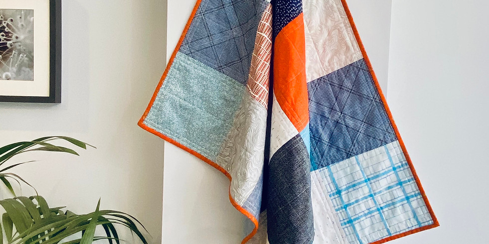 Patchwork Baby or Lap Quilt