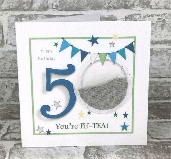 Tea Bag Cards -  Birthday