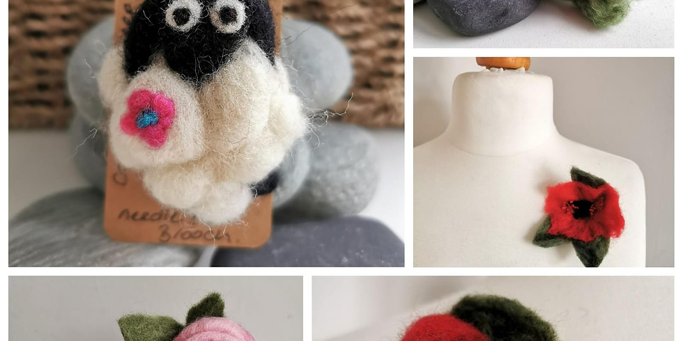 Needle Felted Brooches