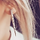 Thumbnail: Hand Stamped Mandala Fork Tine Stud Earrings
