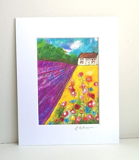 House On Lavender Hill Mounted Print