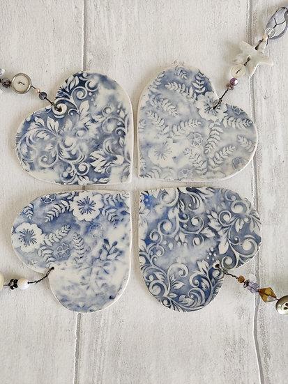 Hanging Ceramic Hearts