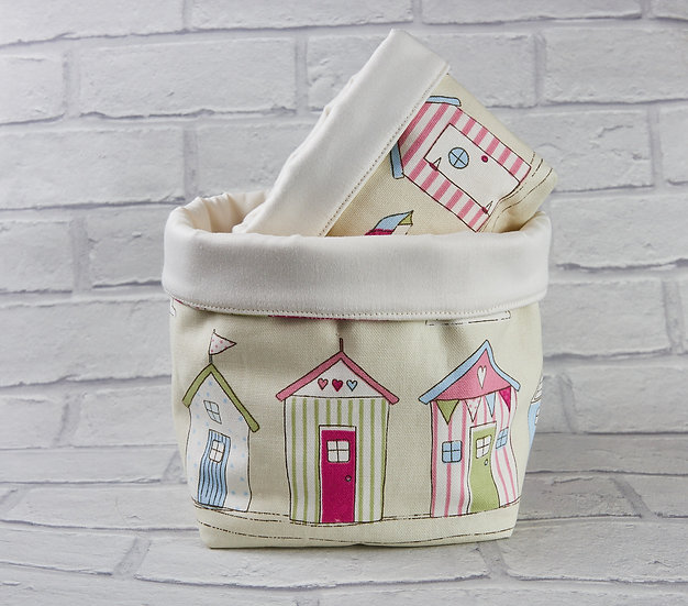 Set of 3 Bits and Bobs Bags -Beach huts