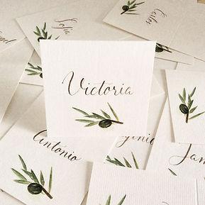 Caligrafía invitaciones de boda