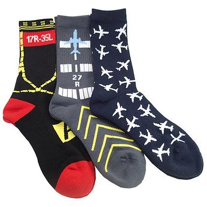 3-Pair Set, Premium Crew Socks