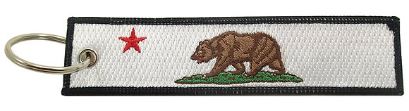 Key Chain, Embroidered, CALIFORNIA