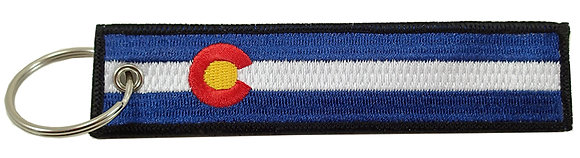 Key Chain, Embroidered, COLORADO