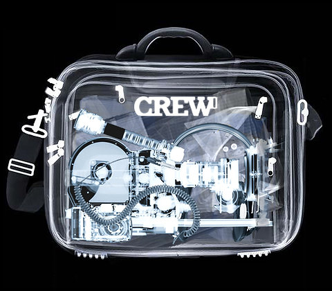 Crew Tag, Stainless Steel, X-Ray ID