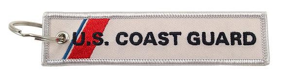 Key Chain, Embroidered, US Coast Guard