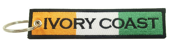 Key Chain, Embroidered, IVORY COAST