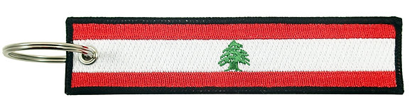 Key Chain, Embroidered, LEBANON