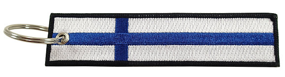 Key Chain, Embroidered,FINLAND