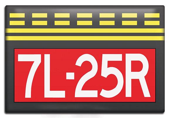 Fridge Magnet - Runway Hold Short Sign, 7L-25R
