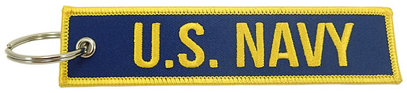 Key Chain, Embroidered, US Navy