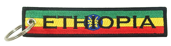 Key Chain, Embroidered, ETHIOPIA