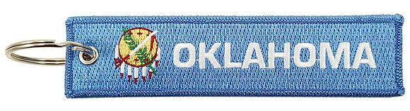 Key Chain, Embroidered, OKLAHOMA