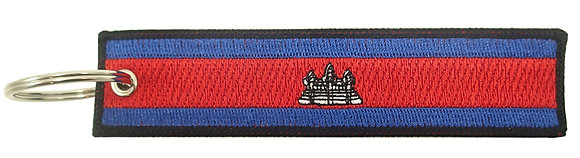 Key Chain, Embroidered, CAMBODIA