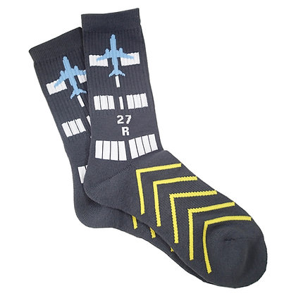 RUNWAY Design, Premium Crew Socks, 1-Pair