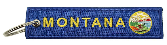 Key Chain, Embroidered, MONTANA