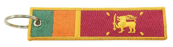 Key Chain, Embroidered, SRI LANKA