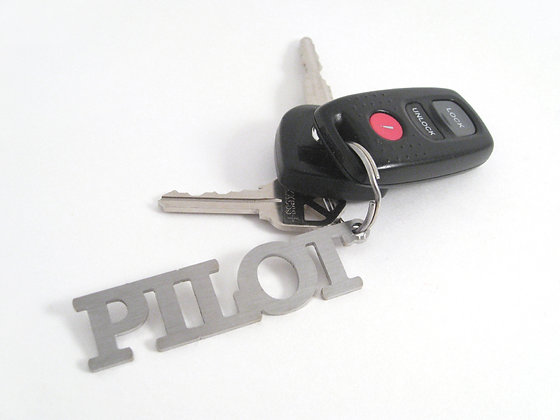 Key Chain, Stainless Steel - PILOT