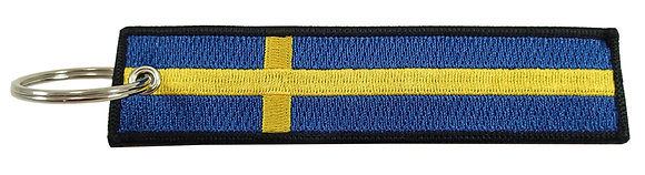 Key Chain, Embroidered, SWEDEN