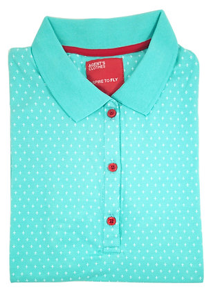 Agent's Clothes Women's Polo, Mini Airplanes