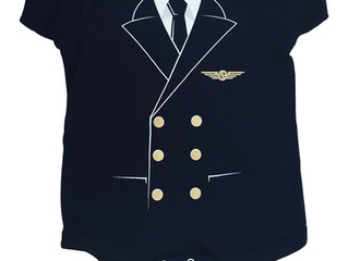 The Pilot Uniform Baby Bodysuit