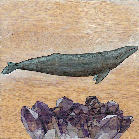 Grey Whale & Amethyst | Sold