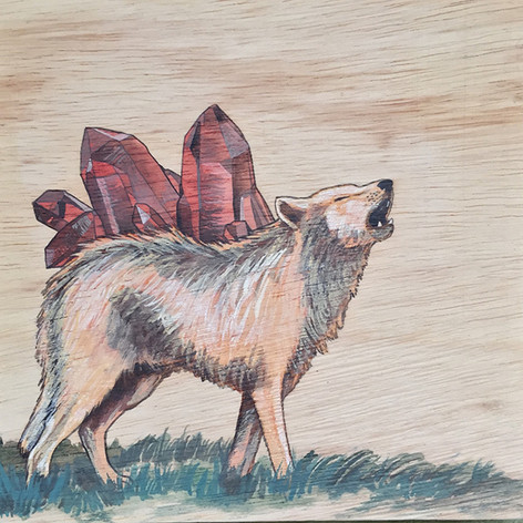 Wolf & Smokey Quartz | Sold