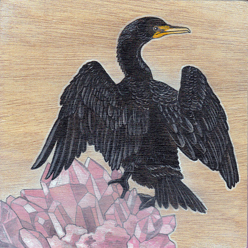 Double Breasted Cormorant & Rose Quartz | Sold