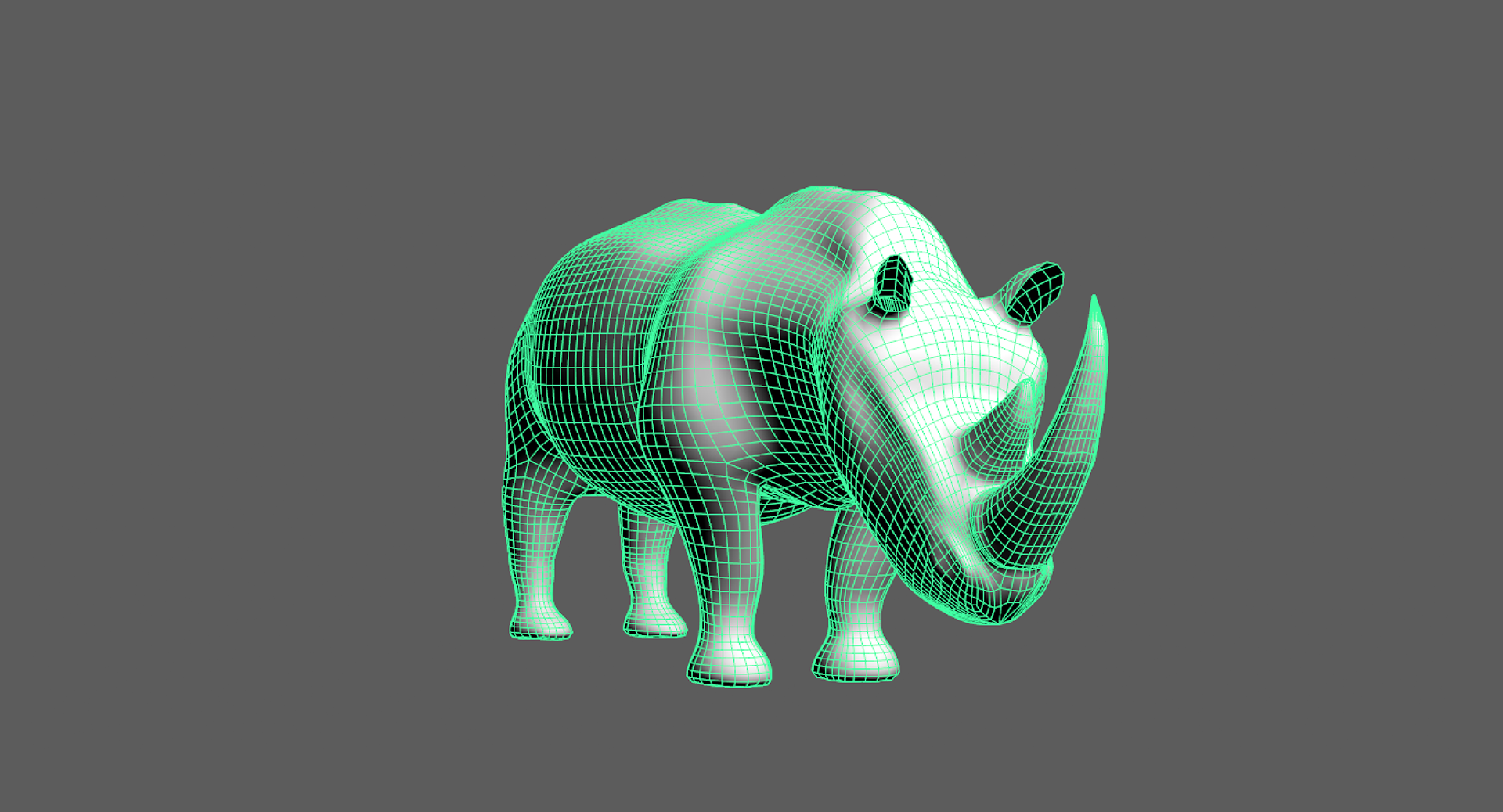 Rhino Model Mesh