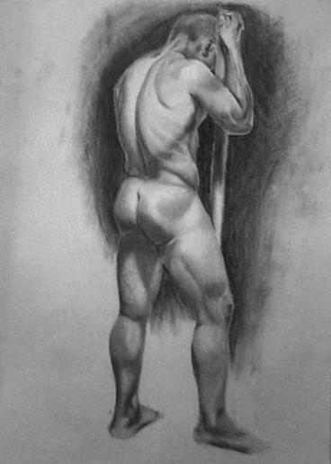 Live Figure Drawing- Final Pose
