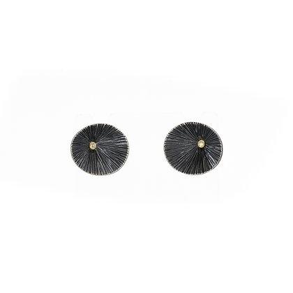 Oxidized Pod Earrings