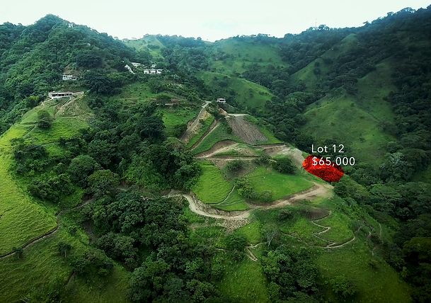 Lot 12 for sale in costa rica highlight.