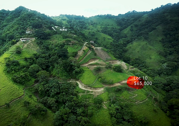 Lot 10 for sale in costa rica highlight.