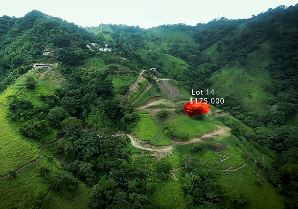 Lot 14 for sale in costa rica highlight.