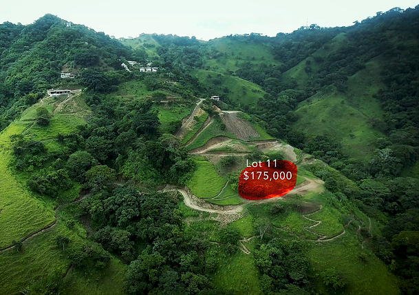 Lot 11 for sale in costa rica highlight.