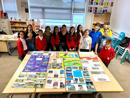 Учениците от 5,6 и 7 клас показаха своите прекрасни проекти, свързани с техния роден край в България