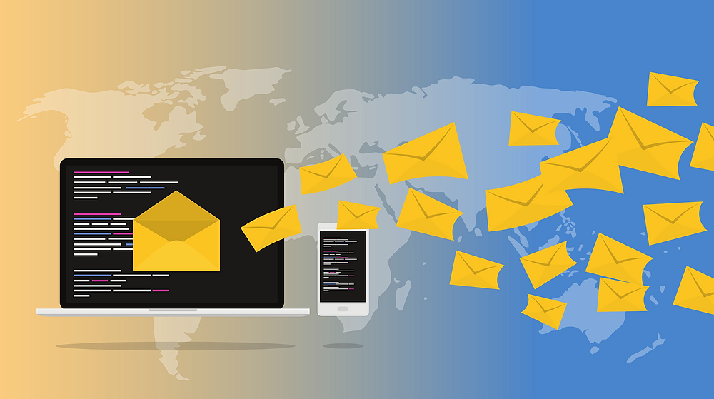Email World Map and Envelopes