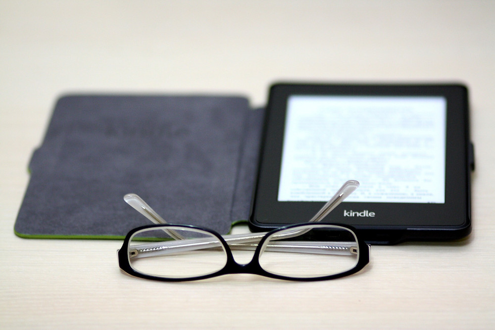 E-reader and Glasses