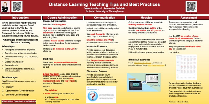 DL Teaching Tips Best Practice with Refe