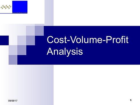 cost-volume-profitanalysis-170908145514-