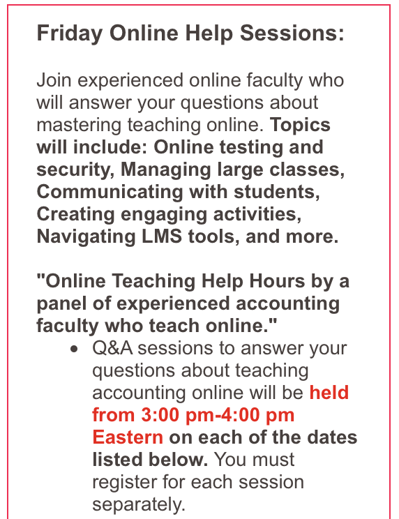 AAA Friday Online Help Session