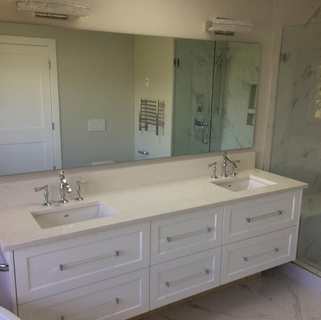Master Bathroom Renovation with Double Vanity